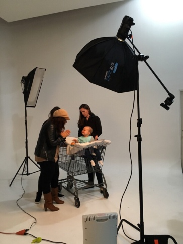 Gianna on set with the wonderful women behind Lulyboo